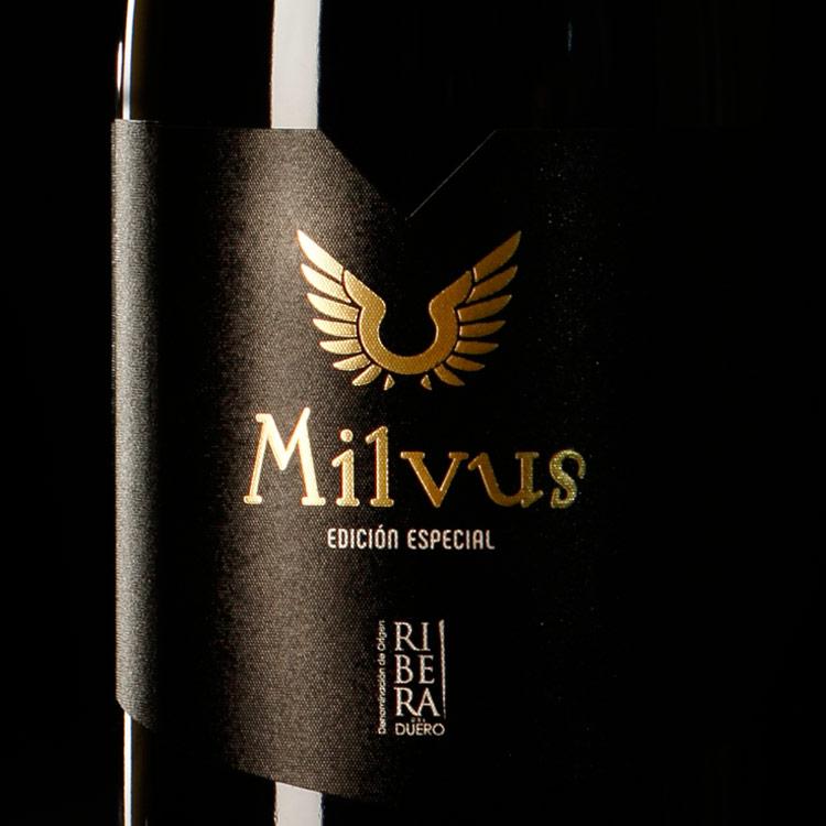 Milvus - etiqueta de vino